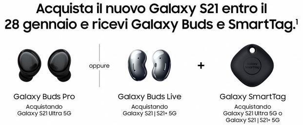 samsung galaxy s21 promo omaggio