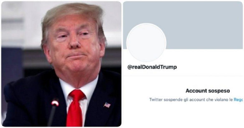 Trump sospeso da Twitter