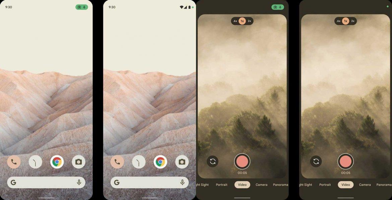 android 12 home e fotocamera