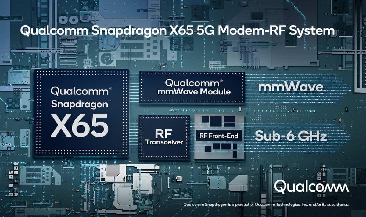 Qualcomm presenta Snapdragon X65: il primo modem 5G fino a 10 Gbps