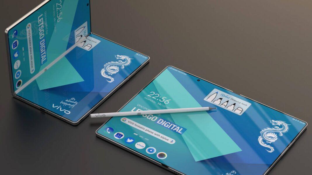vivo smartphone pieghevole con pennino