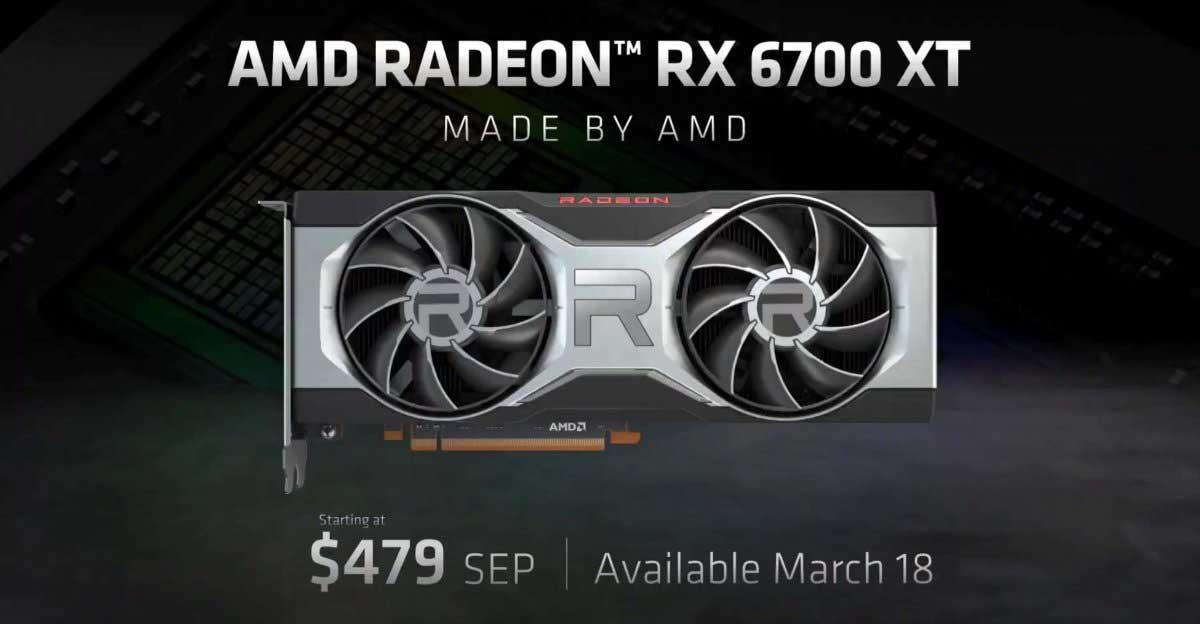 AMD Radeon RX 6700 XT è ufficiale: ecco la rivale di RTX 3070