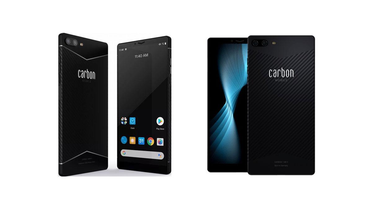 Carbon 1 MKII: lanciato lo smartphone in fibra di carbonio in pre-ordine