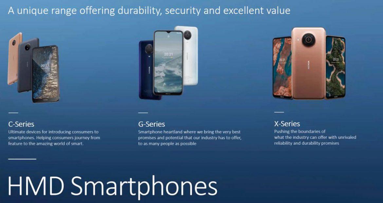 nokia serie x, g e c smartphone 2021