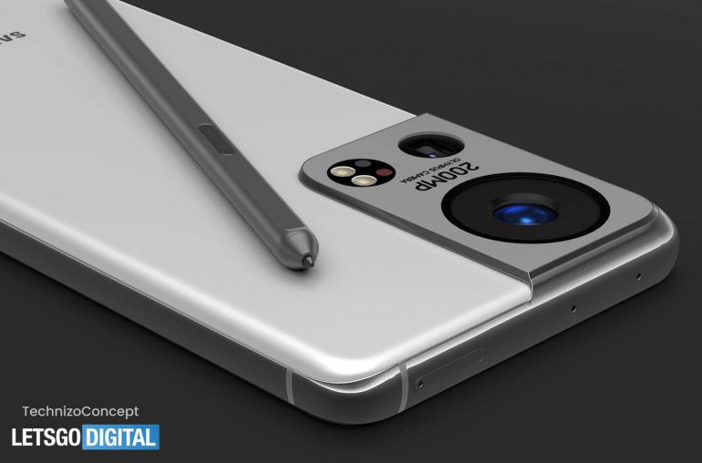 samsung galaxy s22 ultra concept render