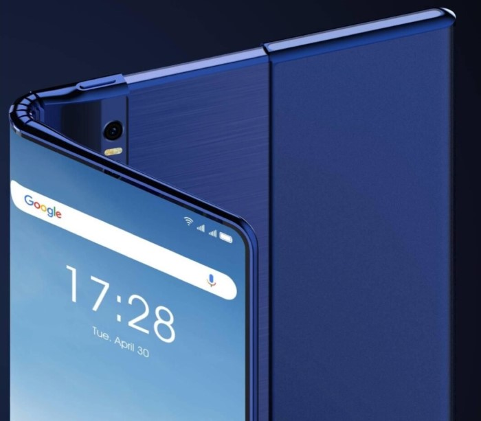 tcl smartphone pieghevole e arrotolabile