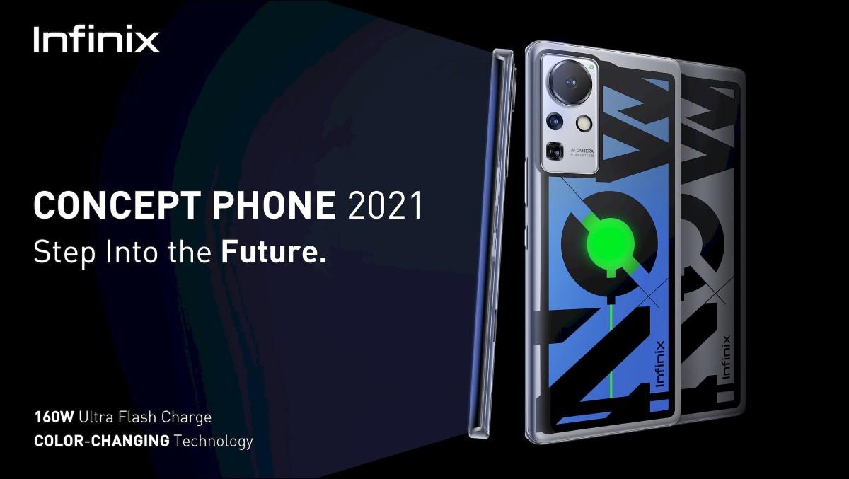 Infinix presenta un concept phone con ricarica a 160W al MWC 2021