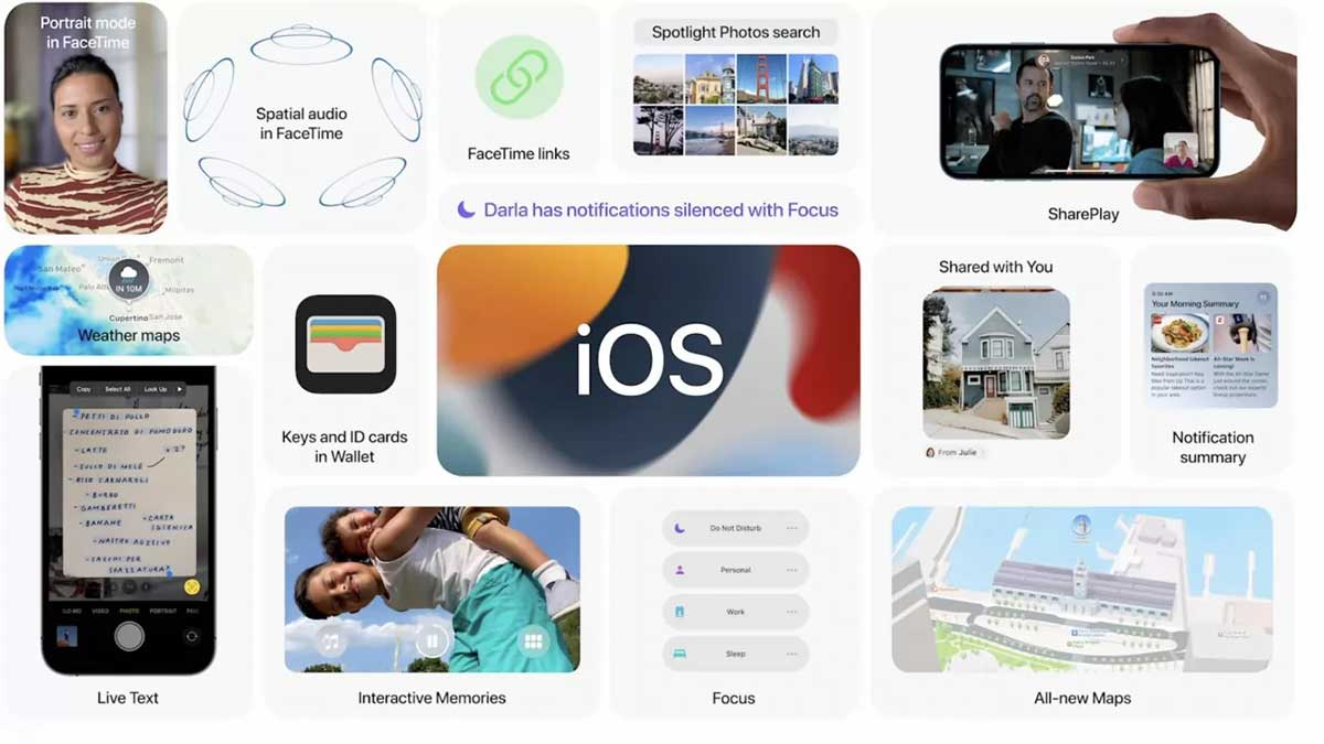 Apple rilascia iOS 15, iPadOS 15, watchOS 8 e tvOS 15: disponibili alle 19