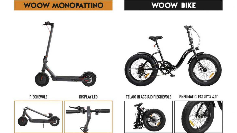 unieuro bici e monopattino woow in regalo