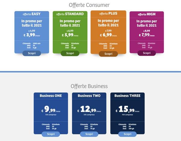 feder mobile offerte e tariffe
