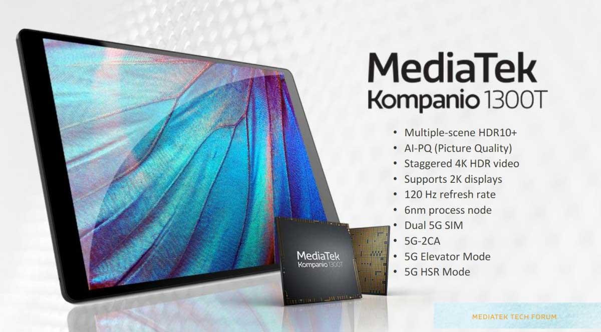 MediaTek presenta Kompanio 1300T: un Dimensity 1200 per PC e tablet