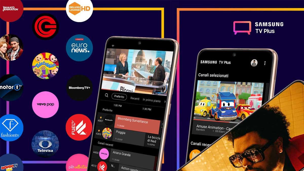 Samsung TV Plus disponibile su smartphone: 46 canali gratis sui Galaxy