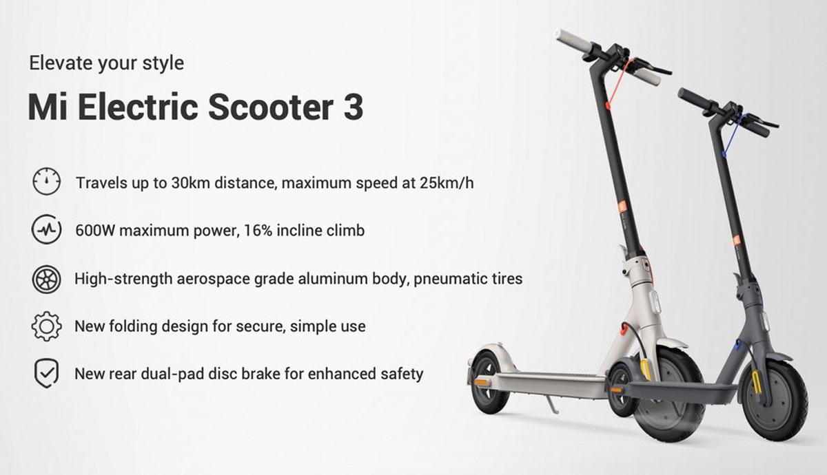 Xiaomi annuncia Mi Electric Scooter 3 e altri 4 prodotti smart in Italia