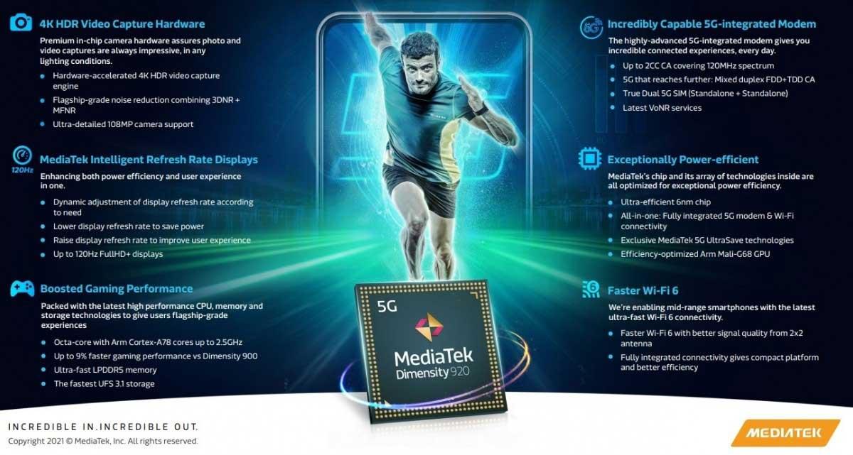 MediaTek Dimensity 920 e 810 ufficiali: 6nm di potenza per la fascia media