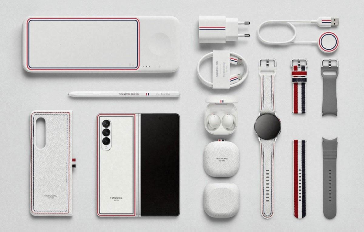 Samsung Galaxy Z Fold/Flip3 e Watch4 ufficiali in versione Thom Browne