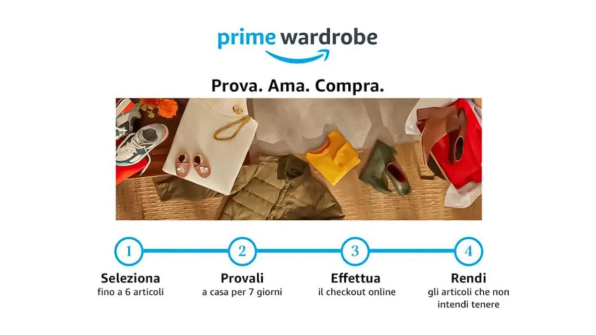 Amazon Prime Wardrobe arriva in Italia: ordini i vestiti, poi decidi se pagare