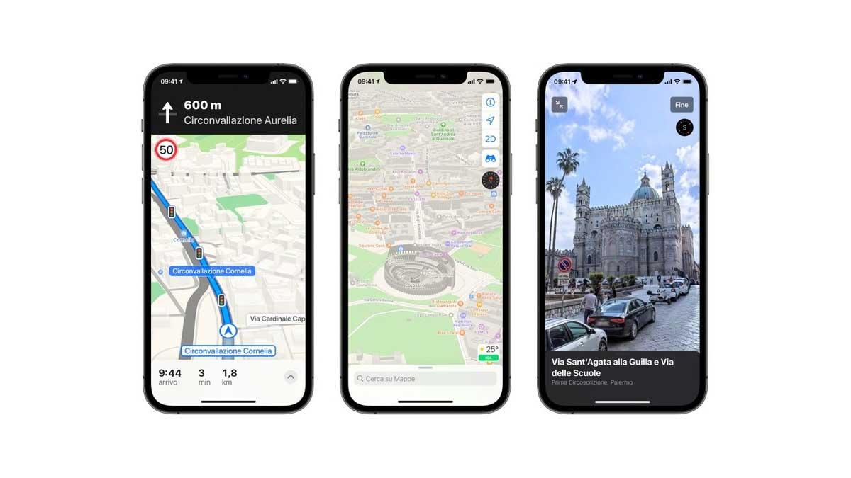Apple rilascia la nuova versione di Mappe in Italia: il cambiamento è totale
