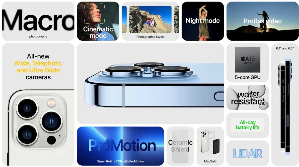 iPhone 13 e nuovi iPad: ecco le specifiche di processori, RAM e batterie