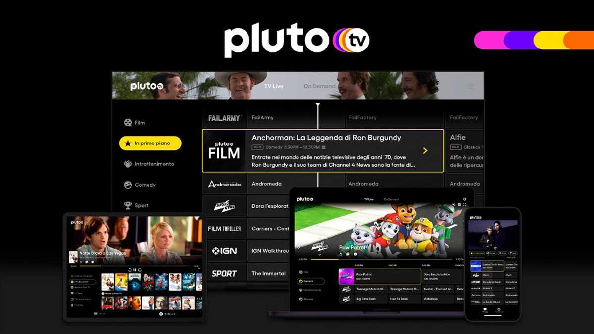 Pluto TV arriva in Italia: streaming gratis con pubblicità da ottobre