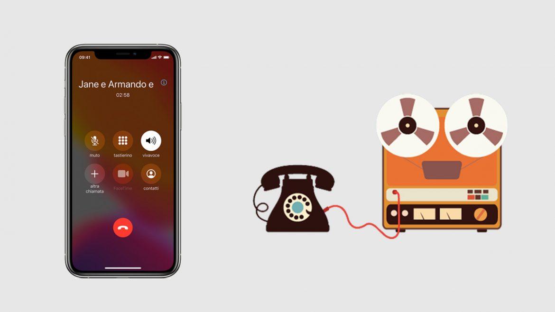 registrare chiamate iphone