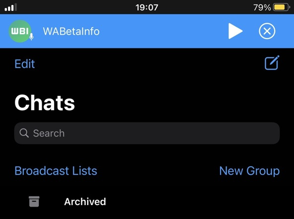 whatsapp player audio