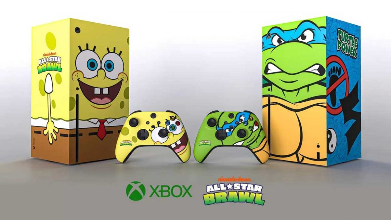 xbox series x spongebob e tartarughe ninja